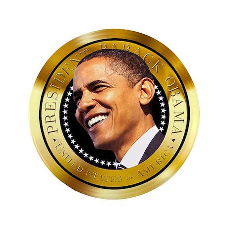 "Obama Gold Seal 3.5"" Button"