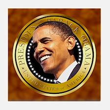 Obama Gold Seal Tile Coaster
