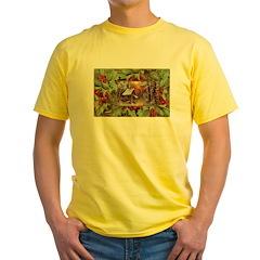 1909 Winter Cottage Yellow T-Shirt