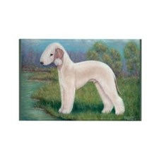 Bedlington (Standing) Rectangle Magnet