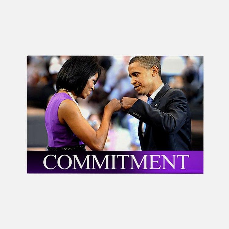 Obama Fist Bump Rectangle Magnet