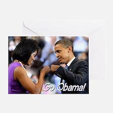 Obama Fist Bump Greeting Card