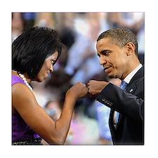 Obama Fist Bump Tile Coaster