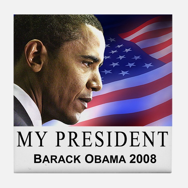 My President (patriotic) Tile Coaster