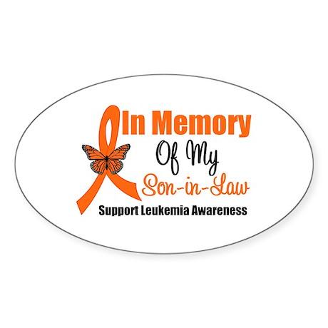 Leukemia InMemory Son-in-Law Oval Sticker