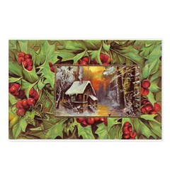 1909 Winter Cottage Postcards (Package of 8)