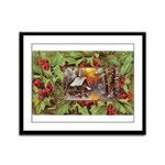 1909 Winter Cottage Framed Panel Print