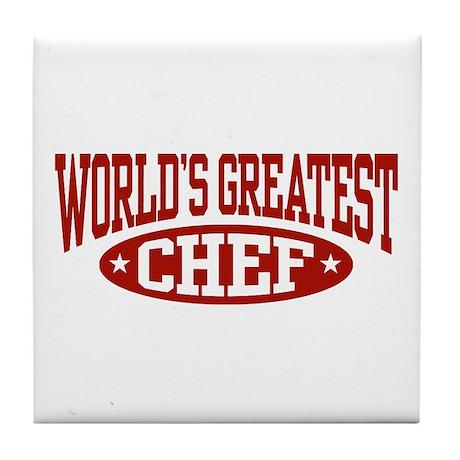 World's Greatest Chef Tile Coaster
