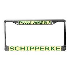Proudly Owned Schipperke License Plate Frame