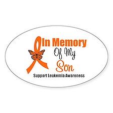 Leukemia InMemory Son Oval Stickers