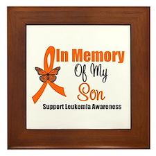 Leukemia InMemory Son Framed Tile