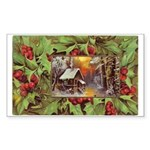 1909 Winter Cottage Rectangle Sticker 10 pk)
