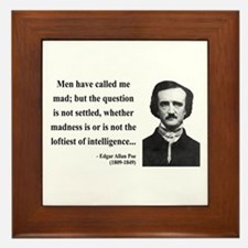 Edgar Allan Poe 18 Framed Tile