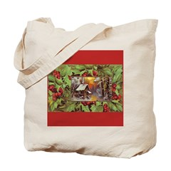 1909 Winter Cottage Tote Bag