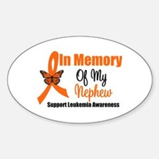 Leukemia InMemory Nephew Oval Decal