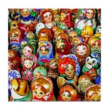 Matroyshka Army Tile Coaster