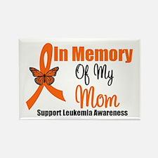 Leukemia In Memory Mom Rectangle Magnet
