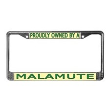 Proudly Owned Malamute License Plate Frame