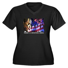 BARACK OBAMA! Women's Plus Size V-Neck Dark T-Shir