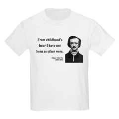 Edgar Allan Poe 19 Kids Light T-Shirt