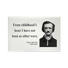 Edgar Allan Poe 19 Rectangle Magnet (10 pack)