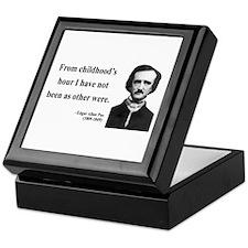 Edgar Allan Poe 19 Keepsake Box