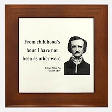 Edgar Allan Poe 19 Framed Tile