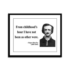 Edgar Allan Poe 19 Framed Panel Print