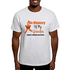 Leukemia In Memory Grandpa T-Shirt