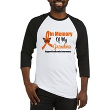 Leukemia In Memory Grandma Baseball Jersey