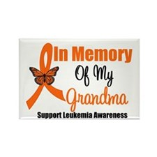 Leukemia In Memory Grandma Rectangle Magnet