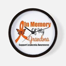 Leukemia In Memory Grandma Wall Clock