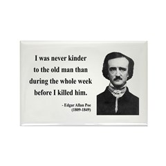 Edgar Allan Poe 20 Rectangle Magnet