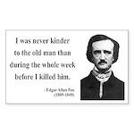 Edgar Allan Poe 20 Rectangle Sticker