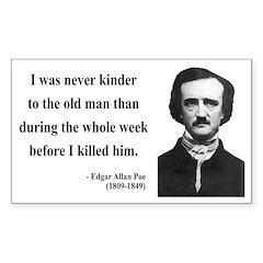 Edgar Allan Poe 20 Rectangle Decal