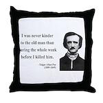 Edgar Allan Poe 20 Throw Pillow