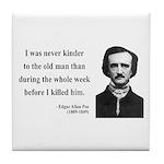Edgar Allan Poe 20 Tile Coaster