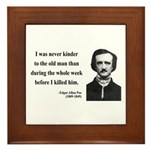 Edgar Allan Poe 20 Framed Tile