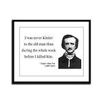 Edgar Allan Poe 20 Framed Panel Print