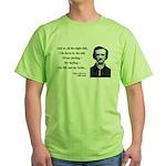 Edgar Allan Poe 21 Green T-Shirt