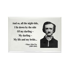 Edgar Allan Poe 21 Rectangle Magnet (10 pack)