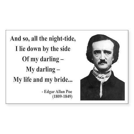 Edgar Allan Poe 21 Rectangle Sticker