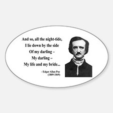 Edgar Allan Poe 21 Oval Decal