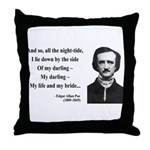 Edgar Allan Poe 21 Throw Pillow