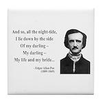 Edgar Allan Poe 21 Tile Coaster