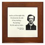 Edgar Allan Poe 21 Framed Tile