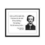 Edgar Allan Poe 21 Framed Panel Print