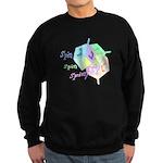Spin Spin Spin Dreidels Sweatshirt (dark)