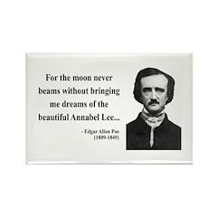 Edgar Allan Poe 22 Rectangle Magnet (10 pack)