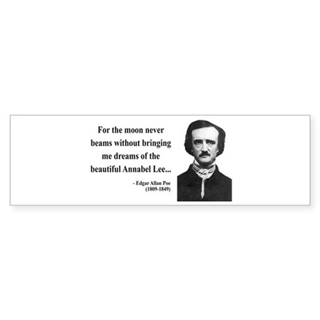 Edgar Allan Poe 22 Bumper Sticker